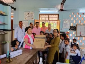 Distribution of water coolers to govt primary school